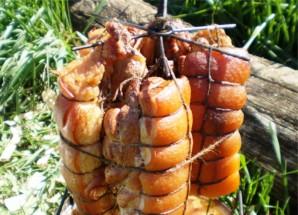 Свинина горячего копчения в коптильне - фото шаг 5