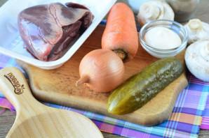 Салат из свиного сердца с грибами - фото шаг 1