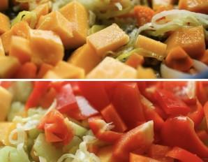 Тыквенный суп-пюре с сыром - фото шаг 5