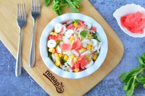 Салат с имбирем и крабовыми палочками - фото шаг 8