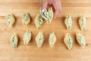 Ракушки, фаршированные сыром - фото шаг 3
