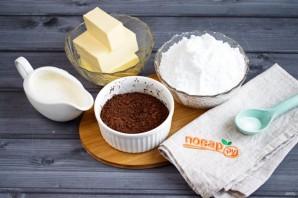 Шоколадно-сливочный крем - фото шаг 1