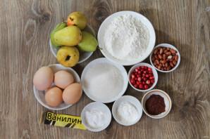 Пирог с грушей и брусникой - фото шаг 1