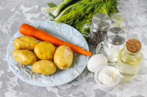 Картофельные драники с морковью - фото шаг 1