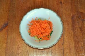 Фунчоза с огурцом и морковью - фото шаг 4