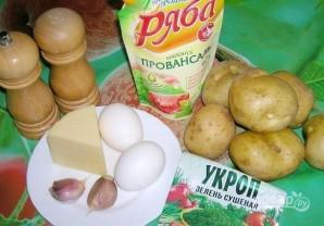 Картошка в духовке с сыром и майонезом - фото шаг 1