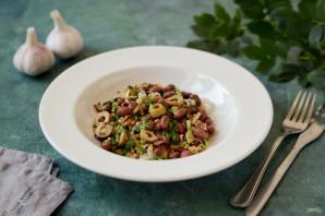 Салат с фасолью и луком-пореем - фото шаг 7