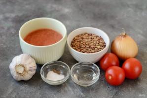Чечевица в томатном соусе - фото шаг 1