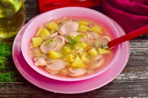 Гречневый суп с сосисками - фото шаг 10