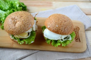 Завтрак в чизбургере - фото шаг 6