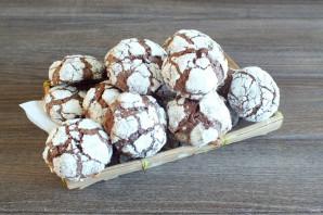 Шоколадное печенье с кракелюрами - фото шаг 11