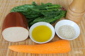 Салат с колбасным сыром и морковью - фото шаг 1