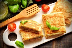 Конвертики из лаваша с мясом и сыром - фото шаг 10