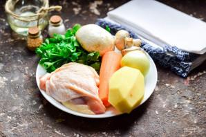 Жаркое в горшочках с курицей и грибами - фото шаг 1