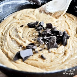 Шоколадный пирог в сковороде - фото шаг 5
