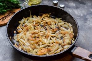 Заливной пирог с капустой и грибами - фото шаг 3