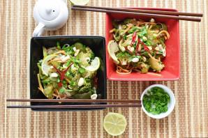 Салат с рисовой лапшой и овощами - фото шаг 6