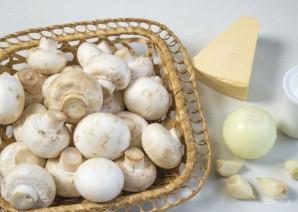 Фаршированные шампиньоны с сыром и зеленью - фото шаг 1