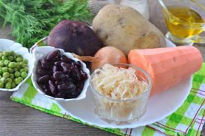 Винегрет с фасолью и горошком - фото шаг 1