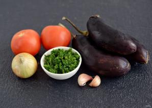 Баклажаны со шпинатом - фото шаг 1