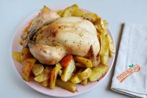 Праздничная курица с яблоками и овощами - фото шаг 7