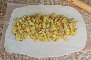 Кулебяка с картошкой - фото шаг 12
