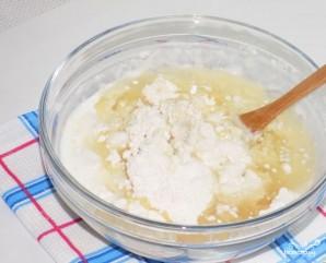 Пирог с капустой заливной на кефире - фото шаг 3