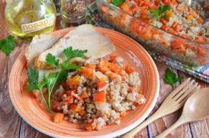 Гречка с овощами в духовке - фото шаг 8