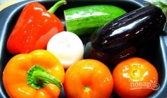 Паста-салат с запеченными овощами - фото шаг 1