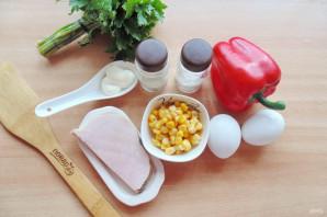 Салат с яйцом и ветчиной - фото шаг 1