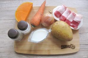 Суп из тыквы с беконом - фото шаг 1