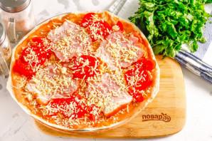 Пицца из лаваша в микроволновке - фото шаг 6