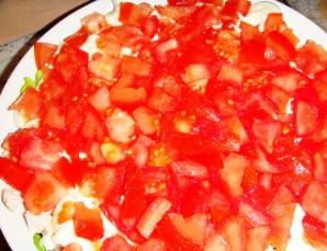 Салат с беконом, курицей и помидорами - фото шаг 4