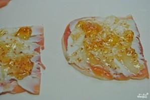 Рулетики из ветчины с сыром - фото шаг 2