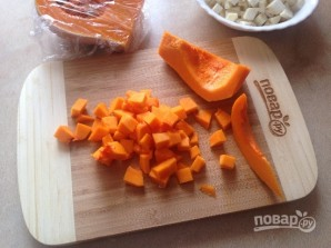 Тыквенно-сельдерейный суп с запеченным нутом - фото шаг 5