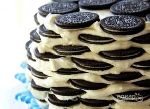 Тортик из печенья без выпечки - фото шаг 4