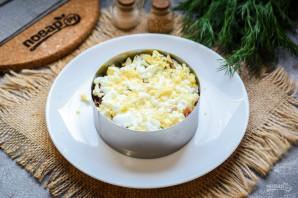 Слоеный салат с тунцом и картофелем - фото шаг 5