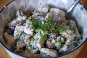 Салат из курицы, сельдерея и яблока - фото шаг 4