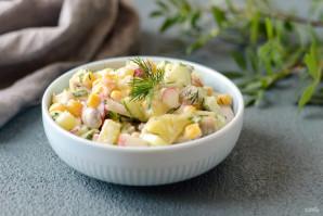 Салат с кукурузой, грибами и огурцами - фото шаг 6