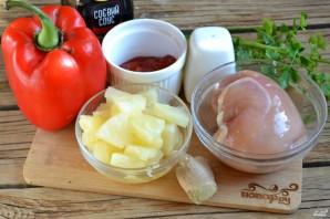 Курица в кисло-сладком соусе с ананасами - фото шаг 1