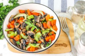 Постный салат с шампиньонами - фото шаг 6