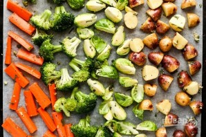 Запеченные овощи с орехами - фото шаг 2