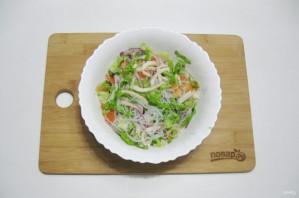 Постный салат с кальмарами - фото шаг 10