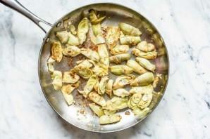 Паста с артишоками и шпинатом - фото шаг 2