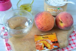Постный пирог с персиками - фото шаг 1