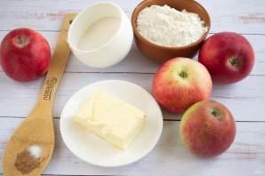 Яблоки под ванильно-сливочным штрейзелем - фото шаг 1