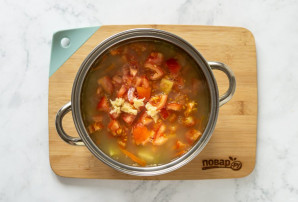 Постный суп из маша