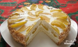 Торт творожный с персиками - фото шаг 7