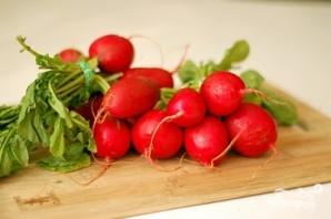 Салат из редиски и огурцов - фото шаг 1