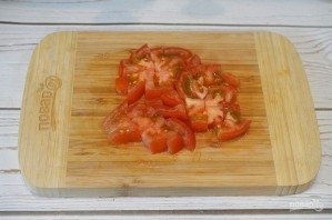 Хек на овощной подушке - фото шаг 4